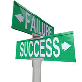 Decision at Turning Point of Success vs Failure - Two-Way Street — Stock Photo