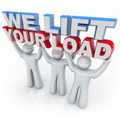 We Lift Your Load - Holding Words — Stockfoto