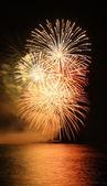 Vertical firework — Stock Photo