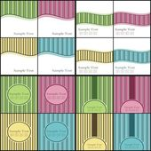 Vector Backgrounds Pack — Stock Vector