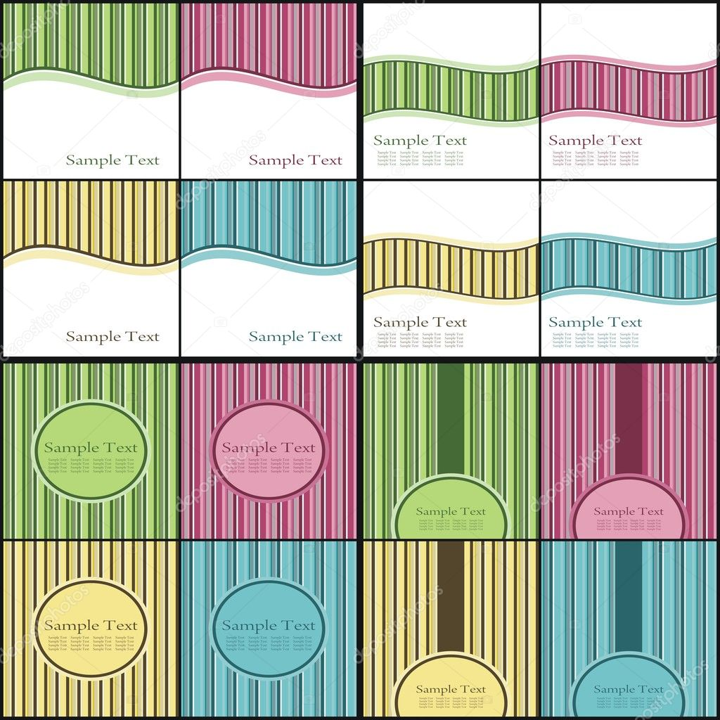 Business Backgrounds Pack for Your design.Business cards.Collection of business backgrounds templates. — Stock Vector #3958213