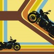 Retro background with motor cycles - Imagens vectoriais em stock