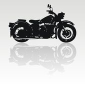 Vector motorcycle silhouette — Stock Vector