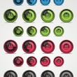 Colorful set of vector timer. Web elements. - Stockvectorbeeld
