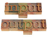Input and output — Stockfoto