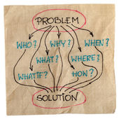 Brainstorming for problem solution — Stockfoto