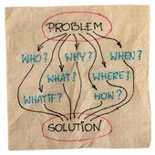 Lluvia de ideas para la solución del problema — Foto de Stock