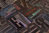 Resumen de madera tipo alfabeto — Foto de Stock