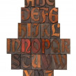 English alphabet abstract - antique type — Stock Photo