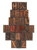 English alphabet abstract - antique type — Zdjęcie stockowe