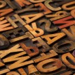 Alphabet abstract in vintage printing blocks — Stock Photo #4031860