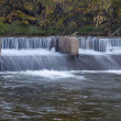 Stock Photo: River diversion dam