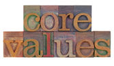 Core values — Stock fotografie
