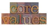 Základní hodnoty — Stock fotografie