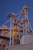 Grain elevator at night — Stock Photo