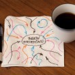 Brainstorming concept on napkin — Stockfoto