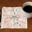 Brainstorming concept on napkin — ストック写真