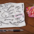 Dating and romance - napkin doodle — Stock Photo #4089381