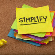Simplify reminder - Foto de Stock