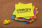 Simplify reminder — Foto de Stock