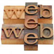 Stock Photo: Web word abstract