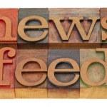 News feed — Stock Photo