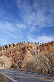 Colorado hihway, con rocce di redstone — Foto Stock