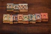 Nuovo concetto di direzione — Foto Stock