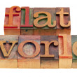 Flat world - globalization concept — Stock Photo