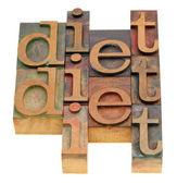 Resumen de palabra dieta — Foto de Stock