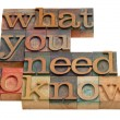 Foto de Stock  : What you need to know