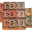 Fraud word abstract - Stock Photo