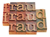 Fraud word abstract — Stock Photo