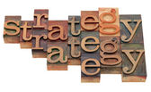 Strategy word abstract — Stock Photo