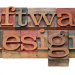 Software design in letterpress type - Foto de Stock