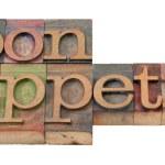 Bon Appetit - Satzes im alten Buchdruck-Typ — Stockfoto