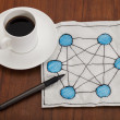 Network concept on napkin - Foto de Stock