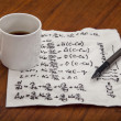 Mathematical equations of physics — Stock Photo