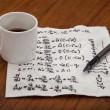 Mathematical equations of physics - Stock Photo