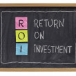 Return on investment concept — Stock Photo