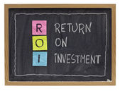Return on investment concept — Stockfoto