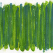 Green and blue abstract painted on canvas — Stock Photo