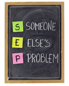 Someone elses problem — Stock Photo