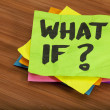 Foto Stock: What if question