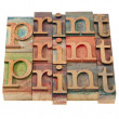 Stock Photo: Print word abstract