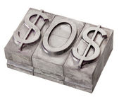 Dollar in distress - SOS signal — Stock Photo