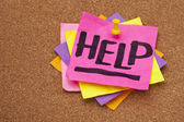 Help posted on bulleting board — Stock Photo