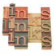 Stock Photo: Links word abstract