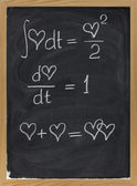 Mathematics of love — Stock Photo