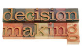 Decision making in letterpress type — Stock Photo